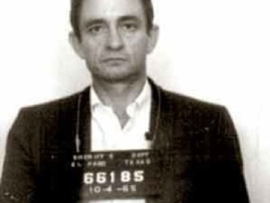 Johnny Cash prison mug shot